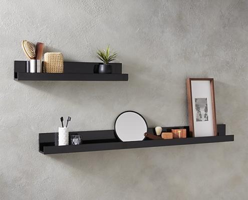 2018 bathroom trends floating shelves
