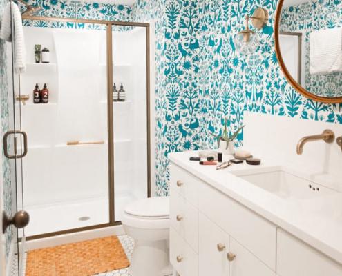 2018 bathroom trends wallpaper